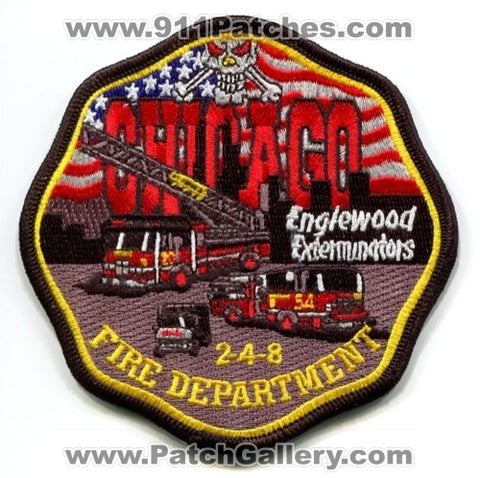 Chicago Fire Department Engine 54 Truck 20 Patch Illinois IL