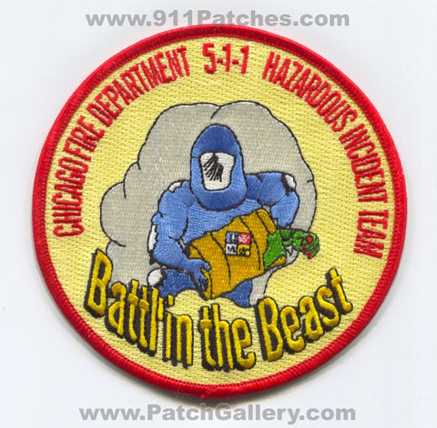 Chicago Fire Department Hazardous Incident Team 5-1-1 Patch Illinois IL v2