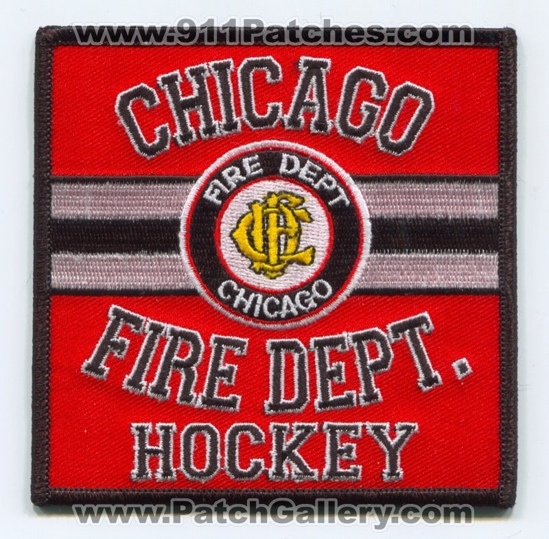 Chicago Fire Department Hockey Team Patch Illinois IL