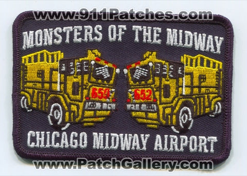 Chicago Fire Department Midway Airport Patch Illinois IL