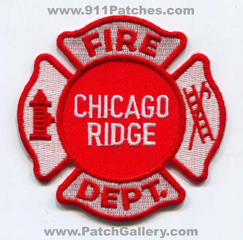 Chicago Ridge Fire Department Patch Illinois IL