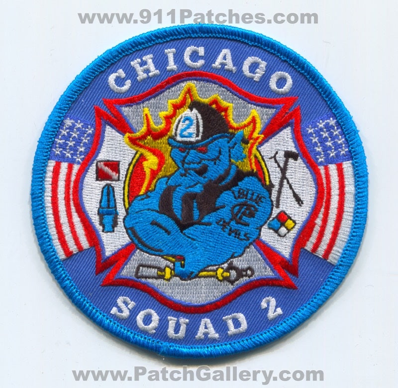 Chicago Fire Department Squad 2 Patch Illinois IL