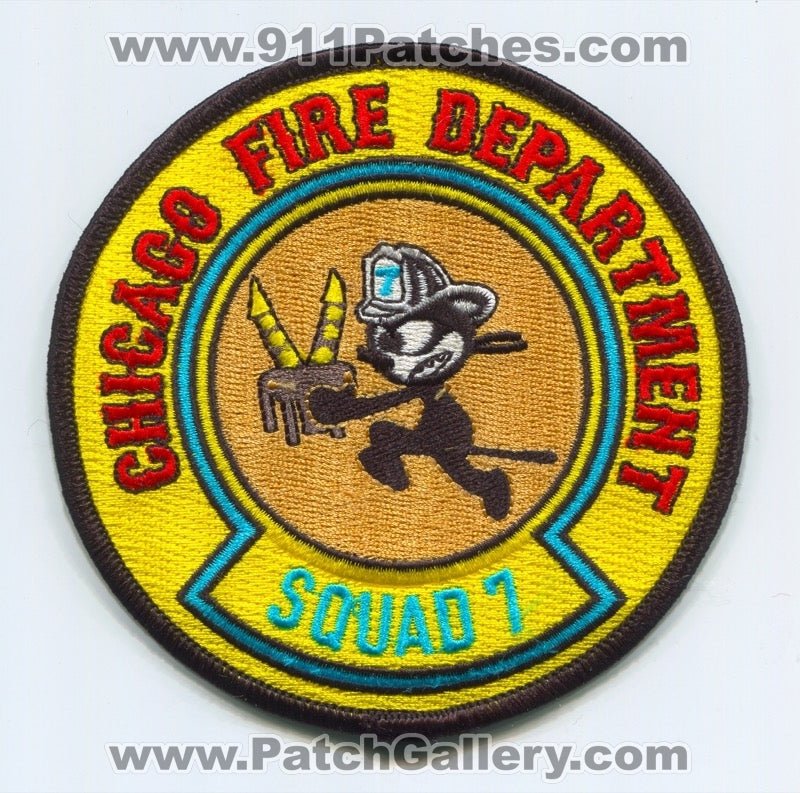 Chicago Fire Department Squad 7 Patch Illinois IL