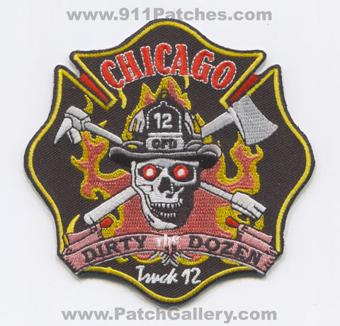 Chicago Fire Department Truck 12 Patch Illinois IL
