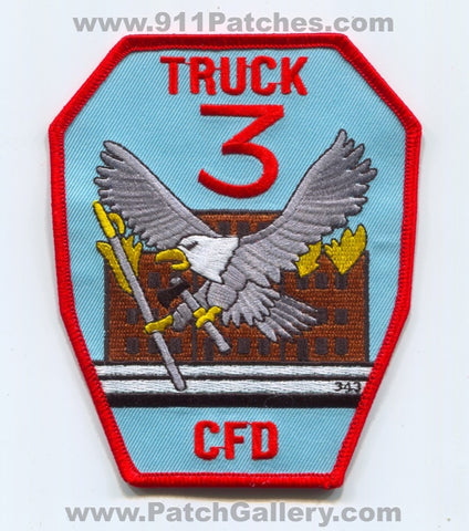 Chicago Fire Department Truck 3 343 Patch Illinois IL