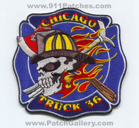 Chicago Fire Department Truck 36 Patch Illinois IL