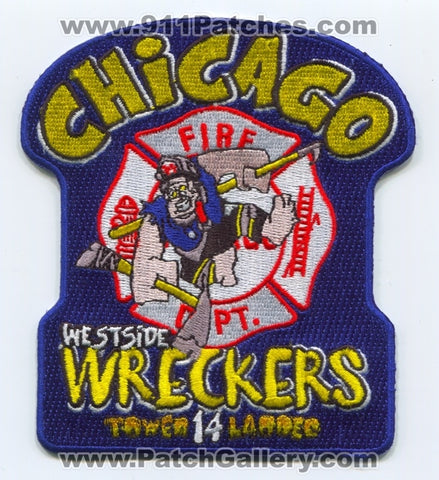 Chicago Fire Department Tower Ladder 14 Patch Illinois IL