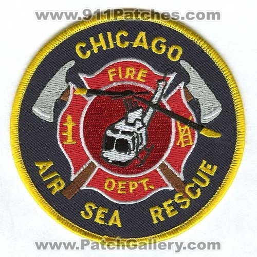 Chicago Fire Department Air Sea Rescue Patch Illinois IL