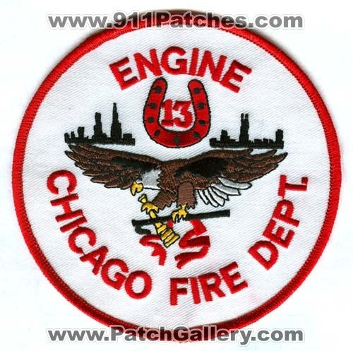 Chicago Fire Department Engine 13 Patch Illinois IL