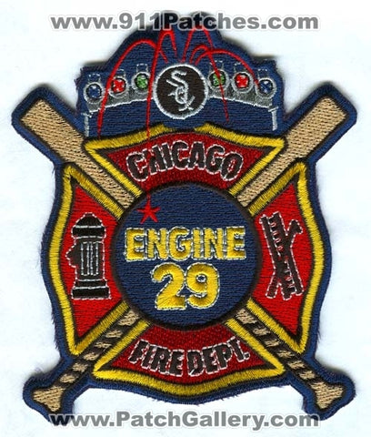 Chicago Fire Department Engine 29 Patch Illinois IL