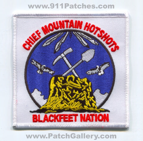 Chief Mountain Hotshots Forest Fire Wildfire Wildland Patch Montana MT