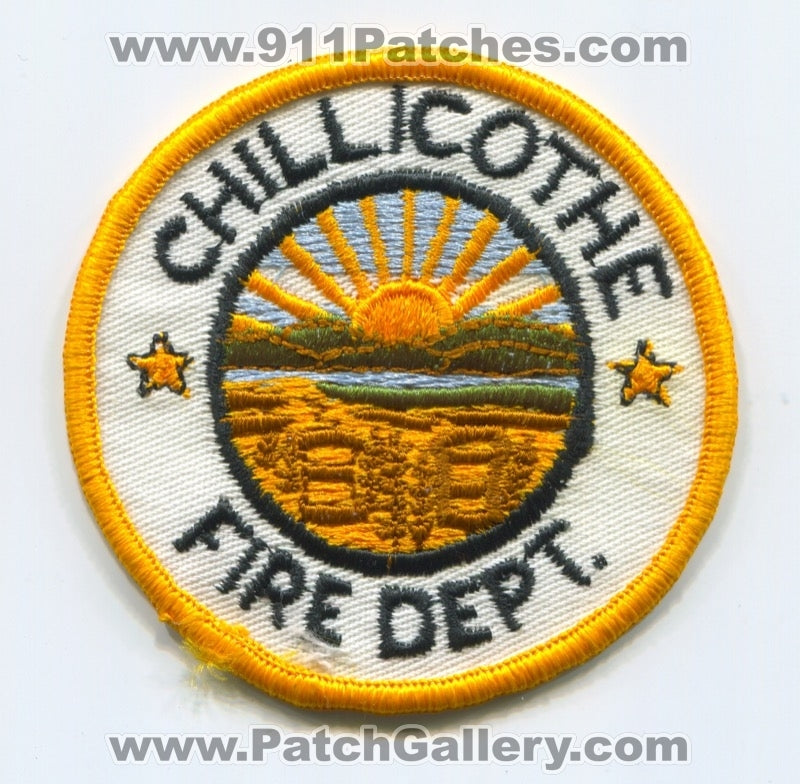 Chillicothe Fire Department Patch Ohio OH