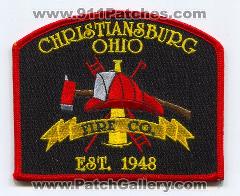 Christiansburg Fire Company Patch Ohio OH