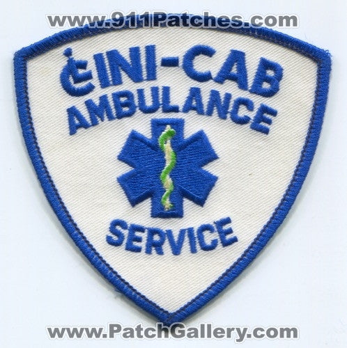 Cini-Cab Ambulance Service EMS Patch Unknown State