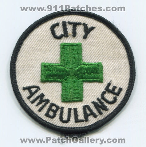 City Ambulance EMS Patch Unknown State