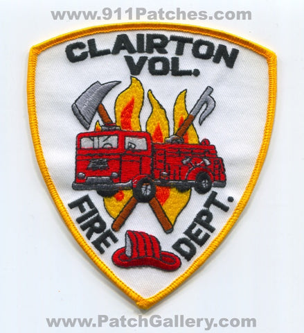 Clairton Volunteer Fire Department Patch Pennsylvania PA