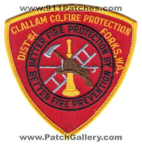 Clallam County Fire Protection District 1 Forks Patch Washington WA