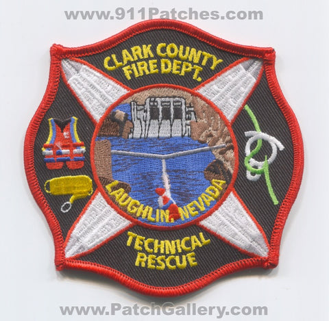 Clark County Fire Department Technical Rescue Laughlin Patch Nevada NV