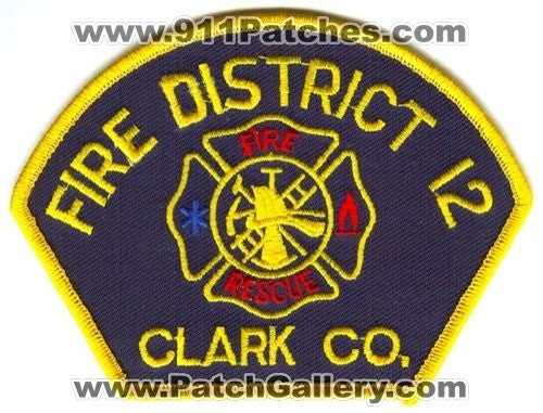 Clark County District 12 Patch Washington WA