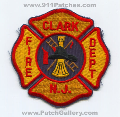 Clark Fire Department Patch New Jersey NJ