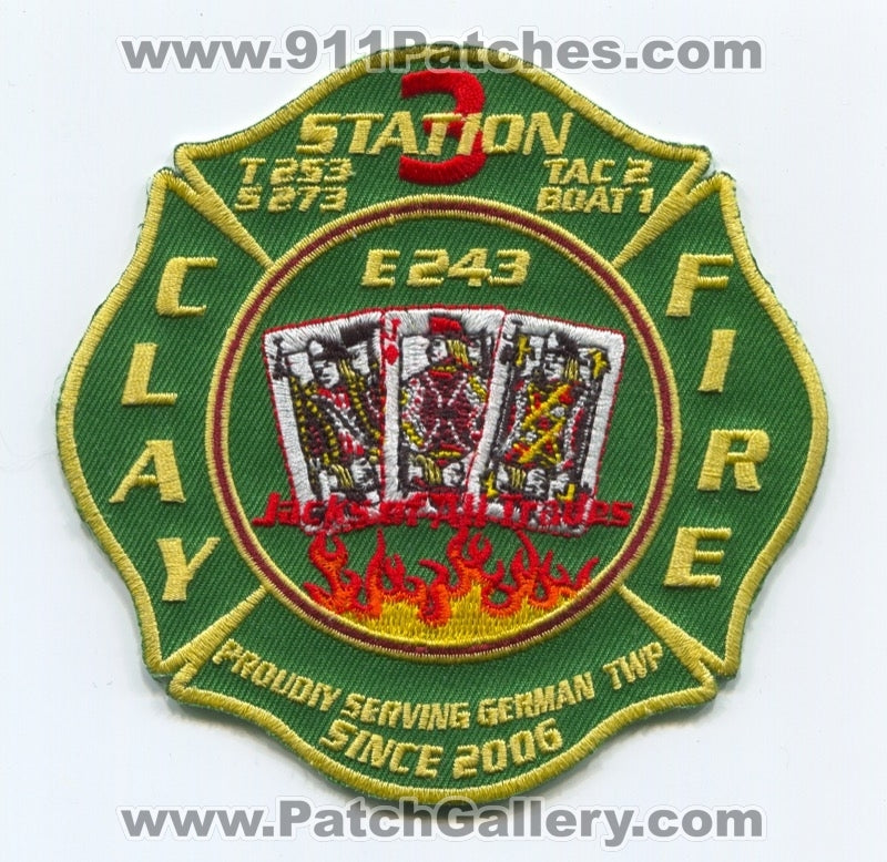 Clay Fire Territory Station 3 Patch Indiana IN