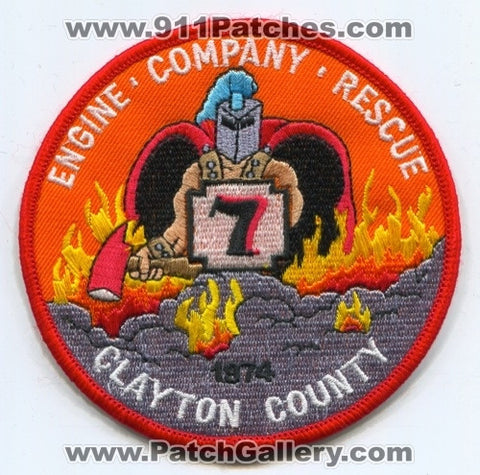 Clayton County Fire Department Company 7 Patch Georgia GA