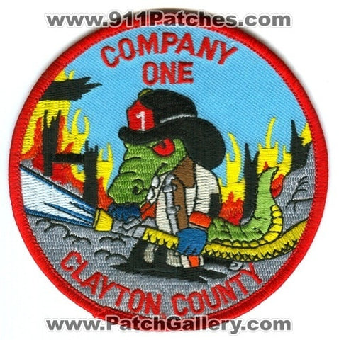 Clayton County Fire Department Company 1 Patch Georgia GA