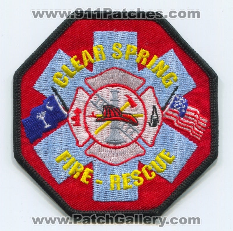 Clear Spring Fire Rescue Department Patch South Carolina SC