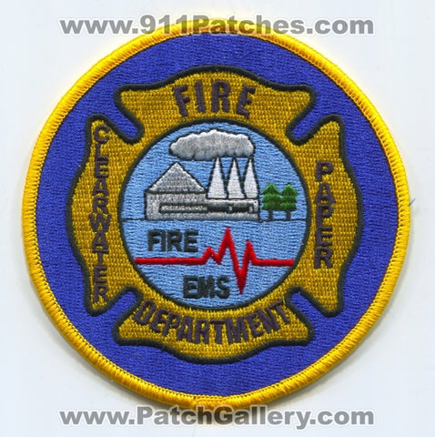 Clearwater Paper Fire Department Lewiston Corporation Patch Idaho ID