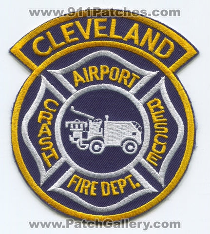 Cleveland Airport Crash Fire Rescue CFR Department Patch Ohio OH