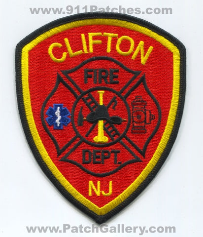 Clifton Fire Department Patch New Jersey NJ