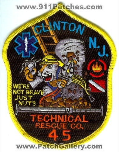 Clinton Fire Department Technical Rescue Company 45 Patch New Jersey NJ