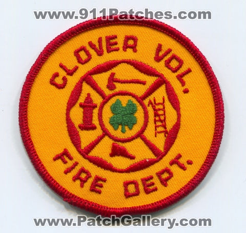 Clover Volunteer Fire Department Patch Unknown State
