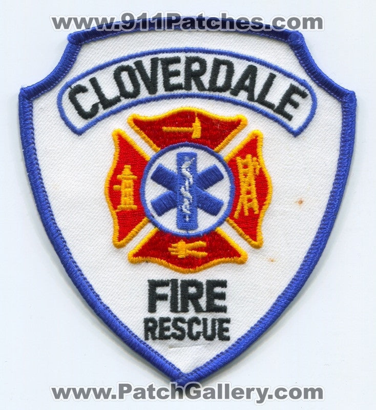 Cloverdale Fire Rescue Department Patch Unknown State