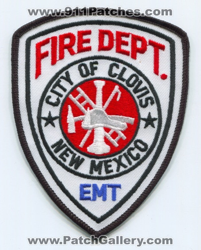 Clovis Fire Department EMT Patch New Mexico NM