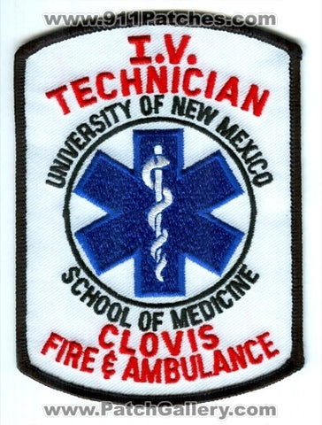 Clovis Fire and Ambulance Department IV Technician Patch New Mexico NM