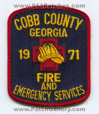 Cobb County Fire and Emergency Services Department Patch Georgia GA