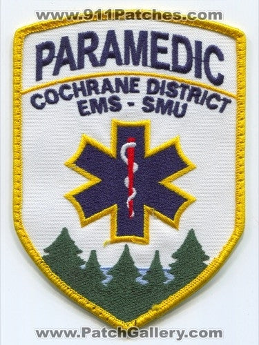Canada ON - Cochrane District Emergency Medical Services EMS SMU Paramedic Patch