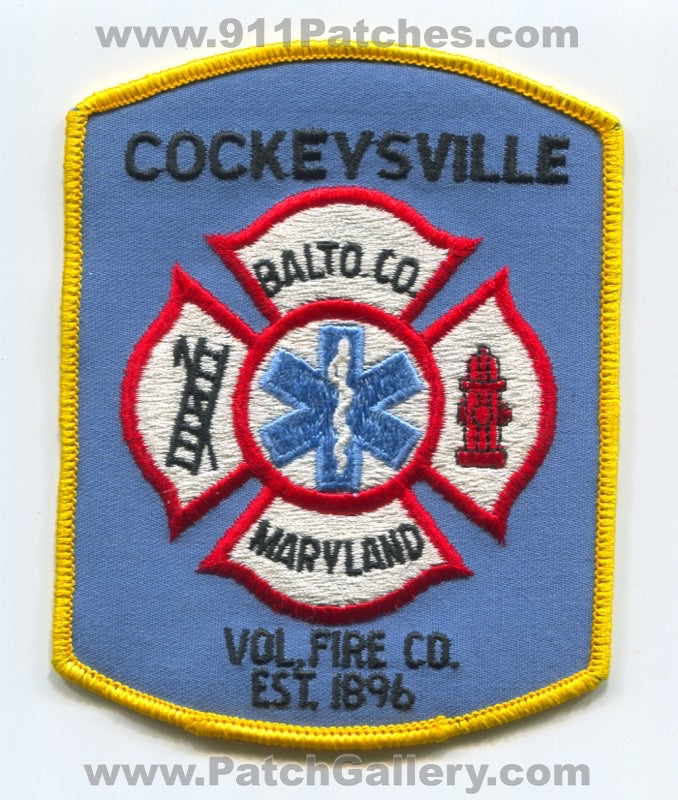 Cockeysville Volunteer Fire Company Baltimore County Patch Maryland MD