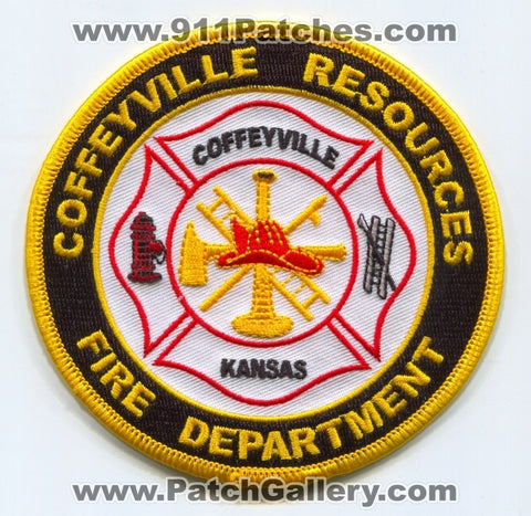 Coffeyville Resources Refinery Fire Department Patch Kansas KS