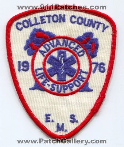 Colleton County Emergency Medical Services EMS ALS Patch South Carolina SC