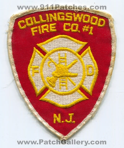 Collingswood Fire Company Number 1 Patch New Jersey NJ