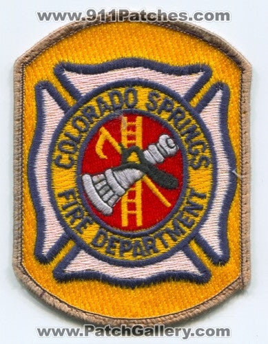 Colorado Springs Fire Department Patch Colorado CO
