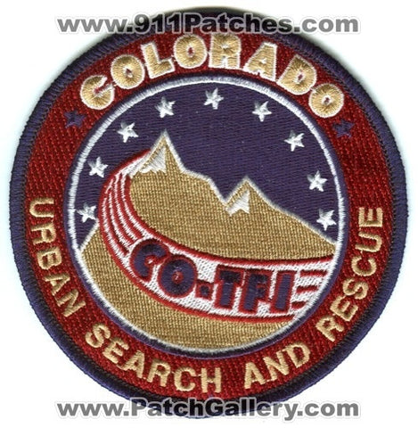Colorado Task Force 1 Urban Search and Rescue USAR Patch Colorado CO