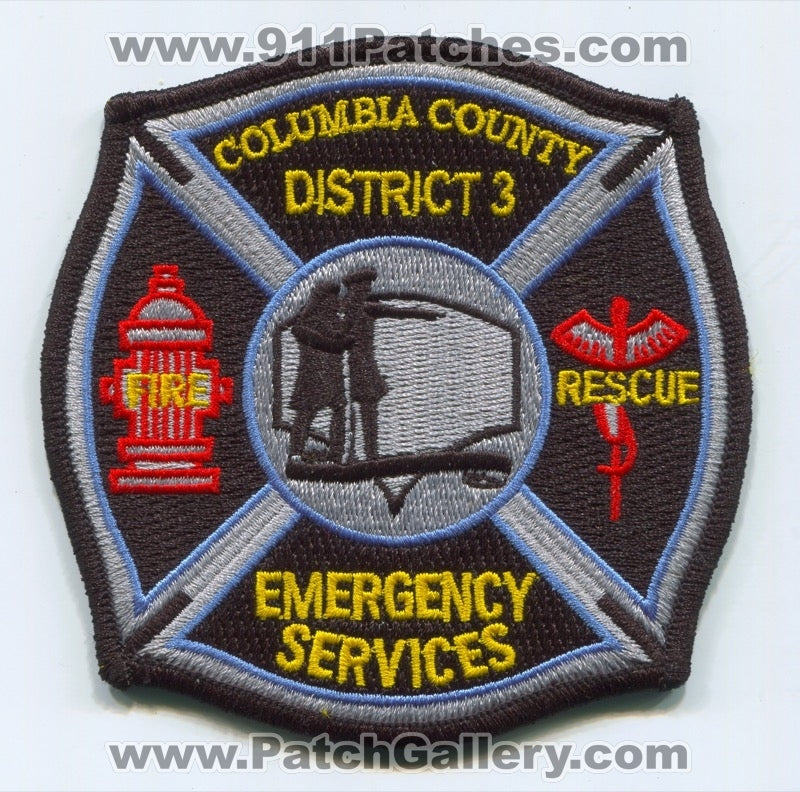 Columbia County Fire District 3 Patch Washington WA