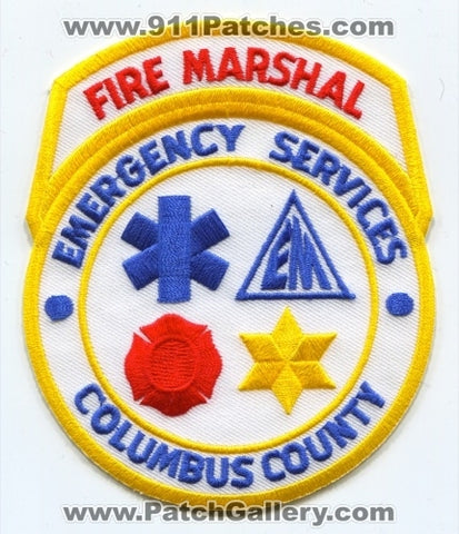 Columbus County Emergency Services Fire Marshal Patch North Carolina NC SKU259