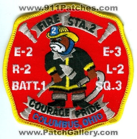 Columbus Fire Department Station 2 Patch Ohio OH