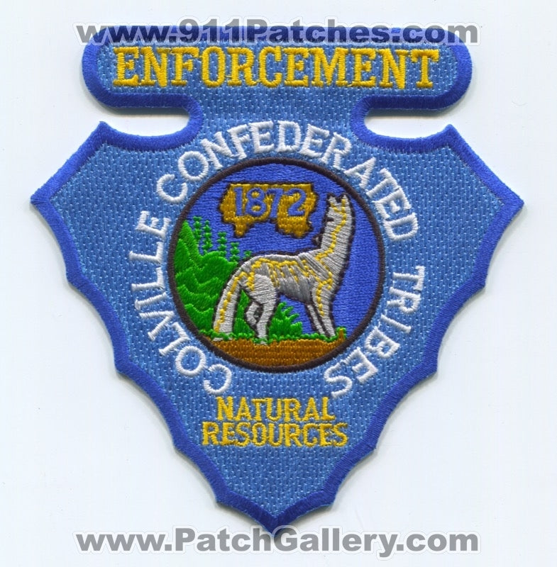 Colville Confederated Tribes Natural Resources Enforcement Police Patch Washington WA