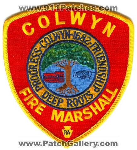 Colwyn Fire Department Fire Marshall Patch Pennsylvania PA