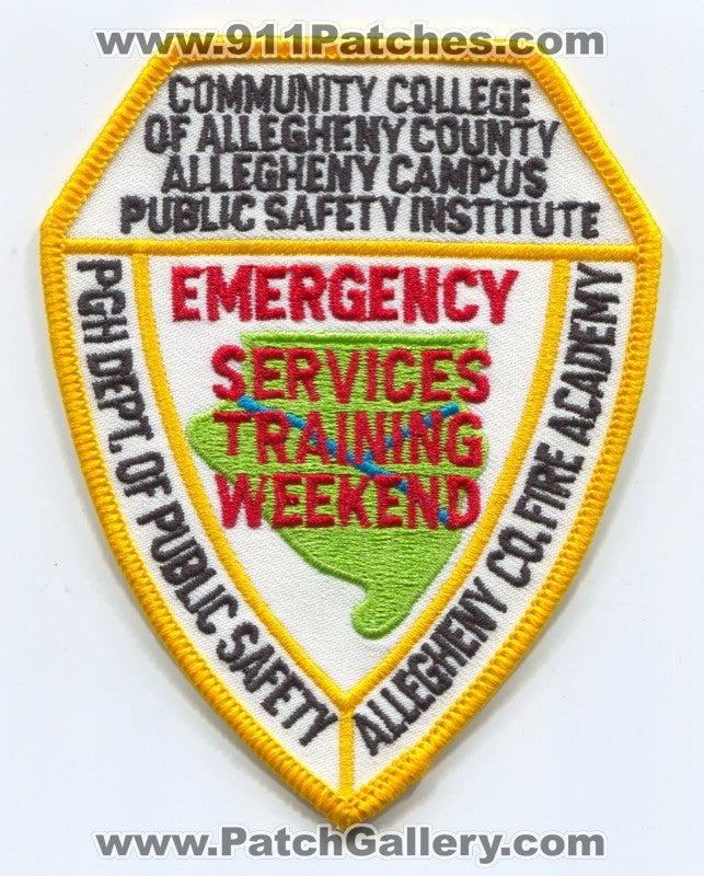 Community College of Allegheny County Emergency Services Training Weekend EMS Patch Pennsylvania PA